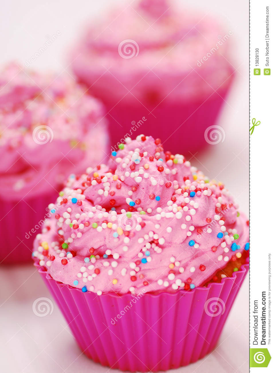 Pink cupcakes stock photo. Image of pink, illustration ...