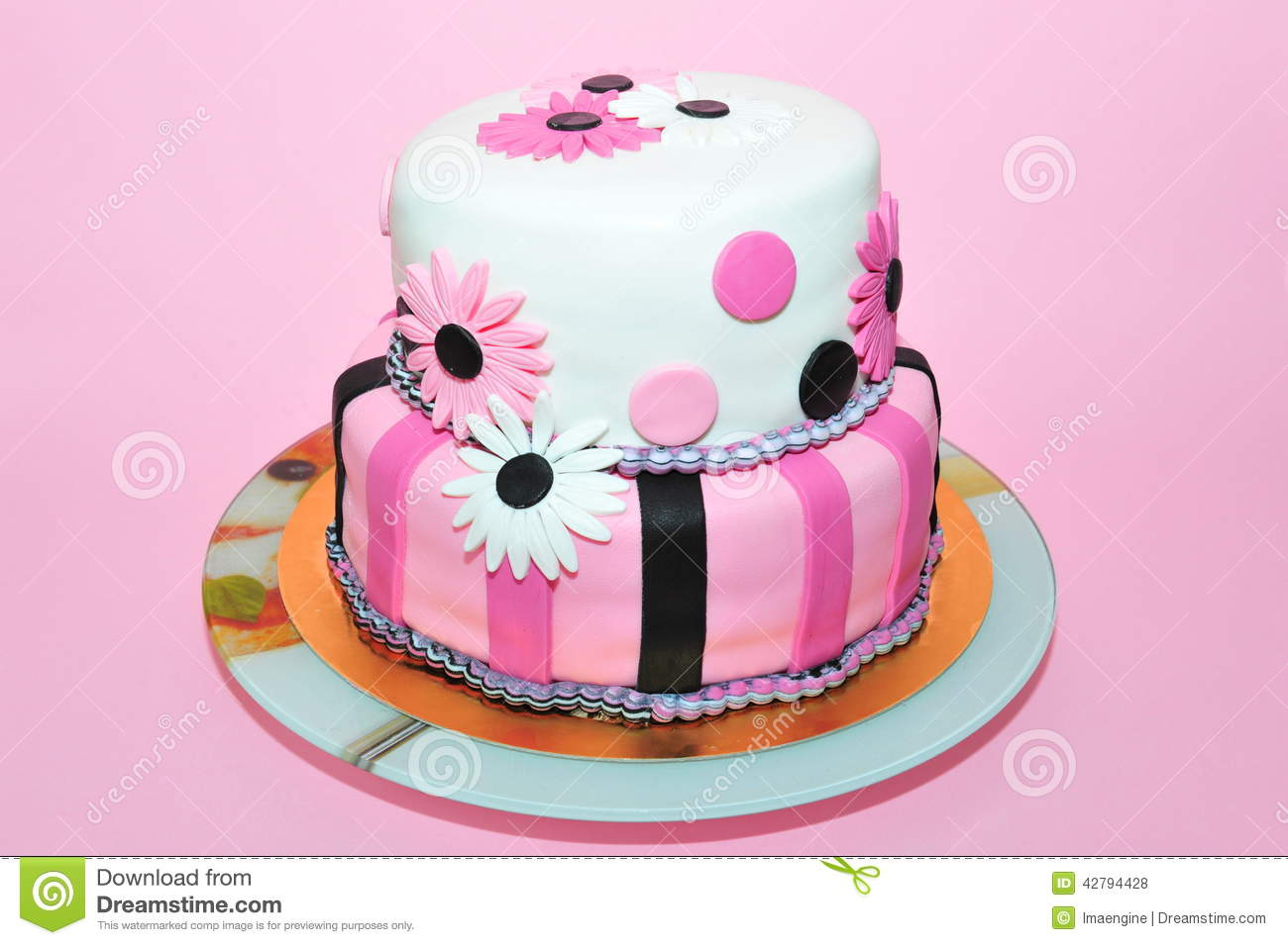 Birthday Cake Vector Pink