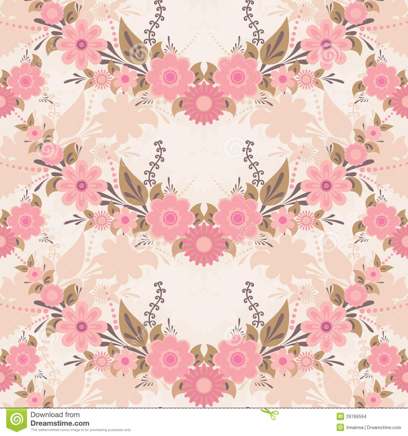 Pink Flower Pattern Stock Vector Illustration Of Backdrop 29766594