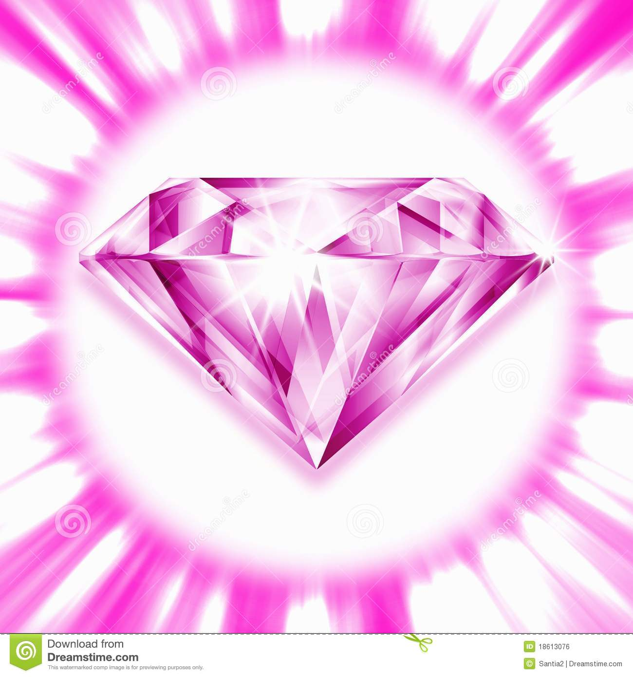 Pink Diamond Royalty Free Stock Image - Image: 18613076