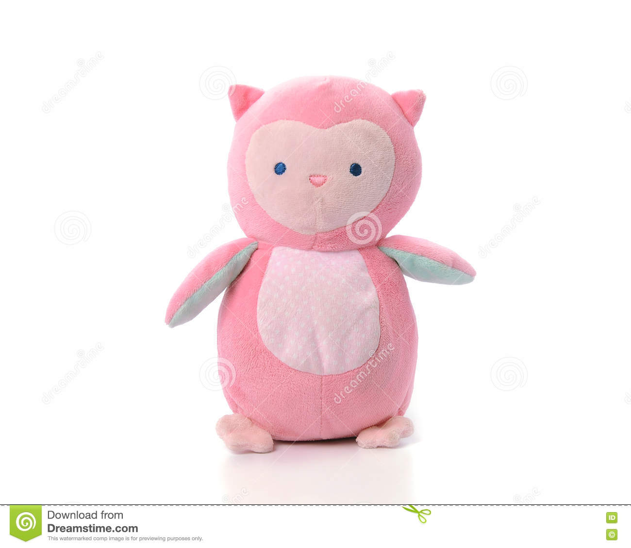 Beautiful pink doll on a white background stock image image of.