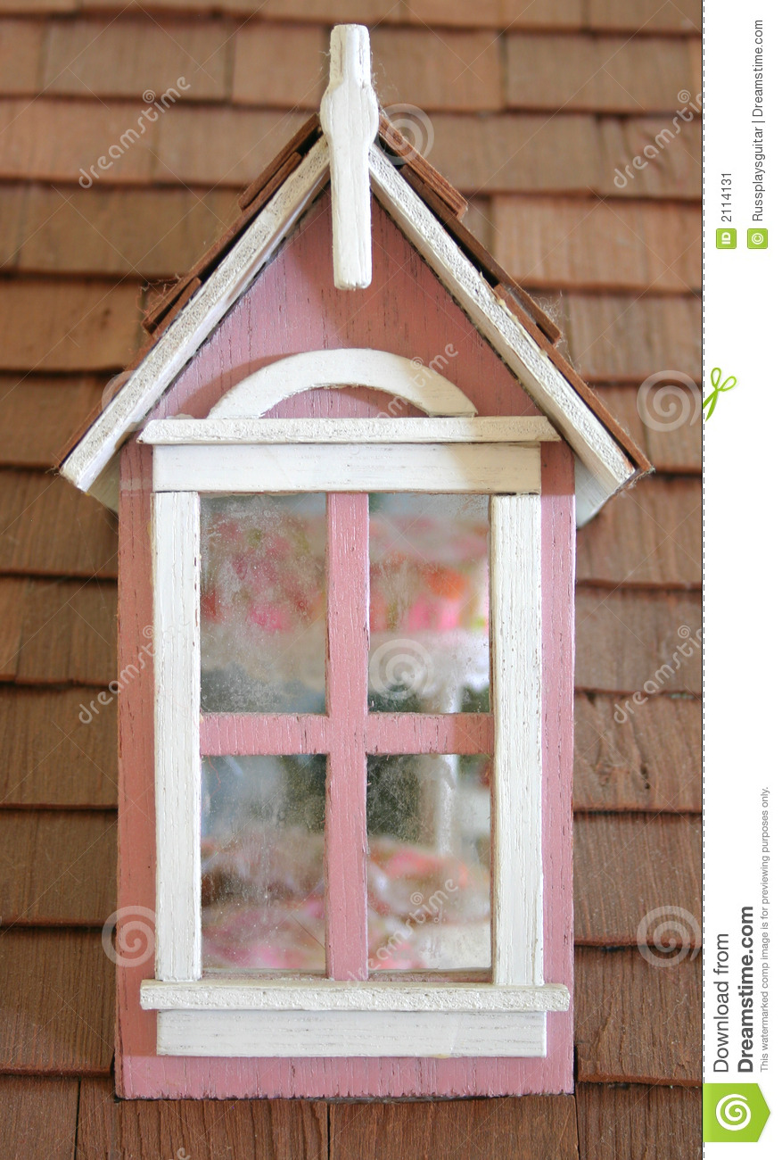 Pink Dollhouse Window Stock Image Image Of Wood Wooden