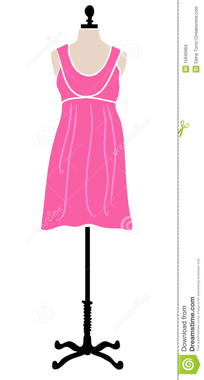 Pink Dress On Mannequin Stock Images Image 15940994