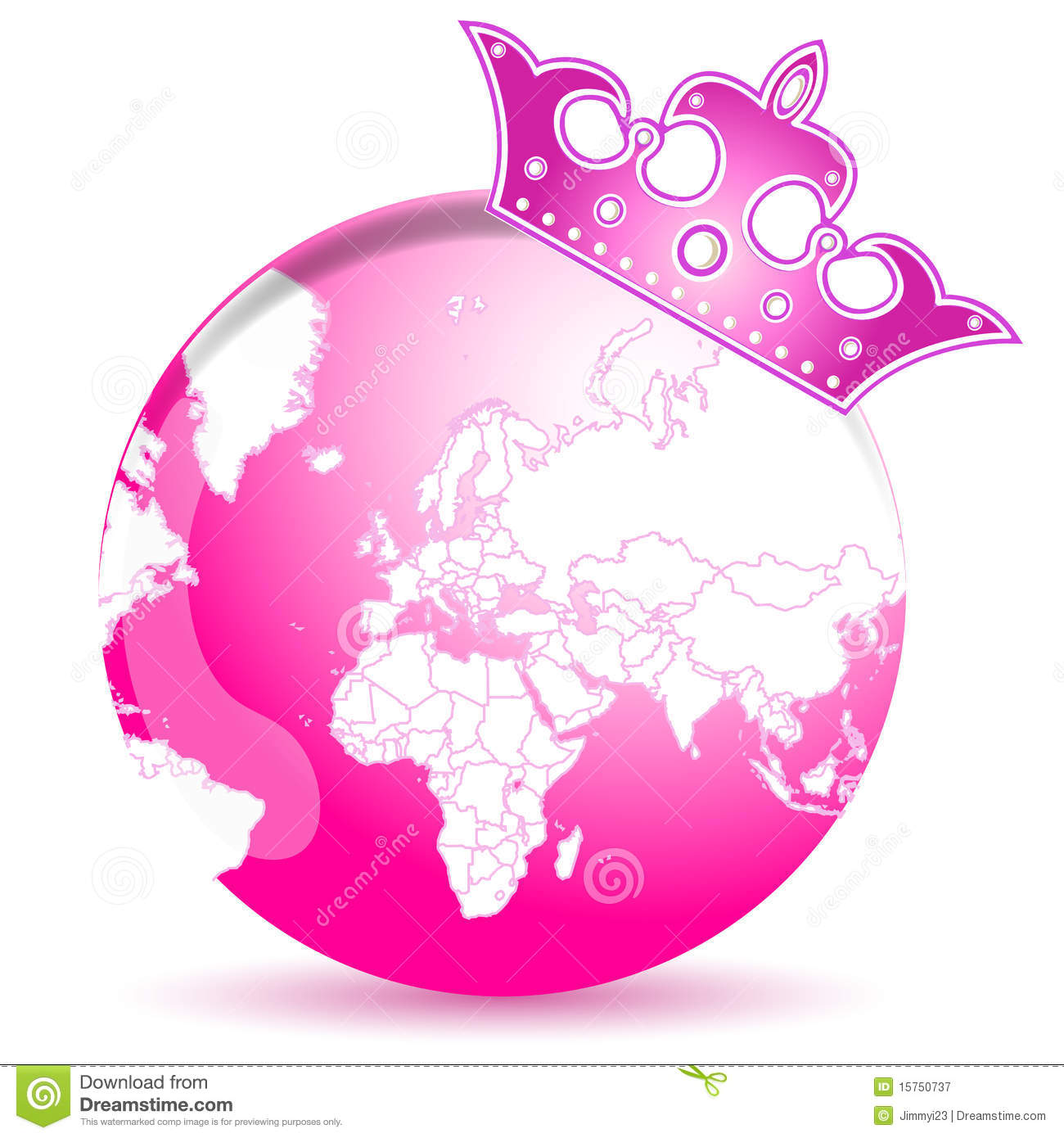 Pink Earth Royalty Free Stock Photography - Image: 15750737