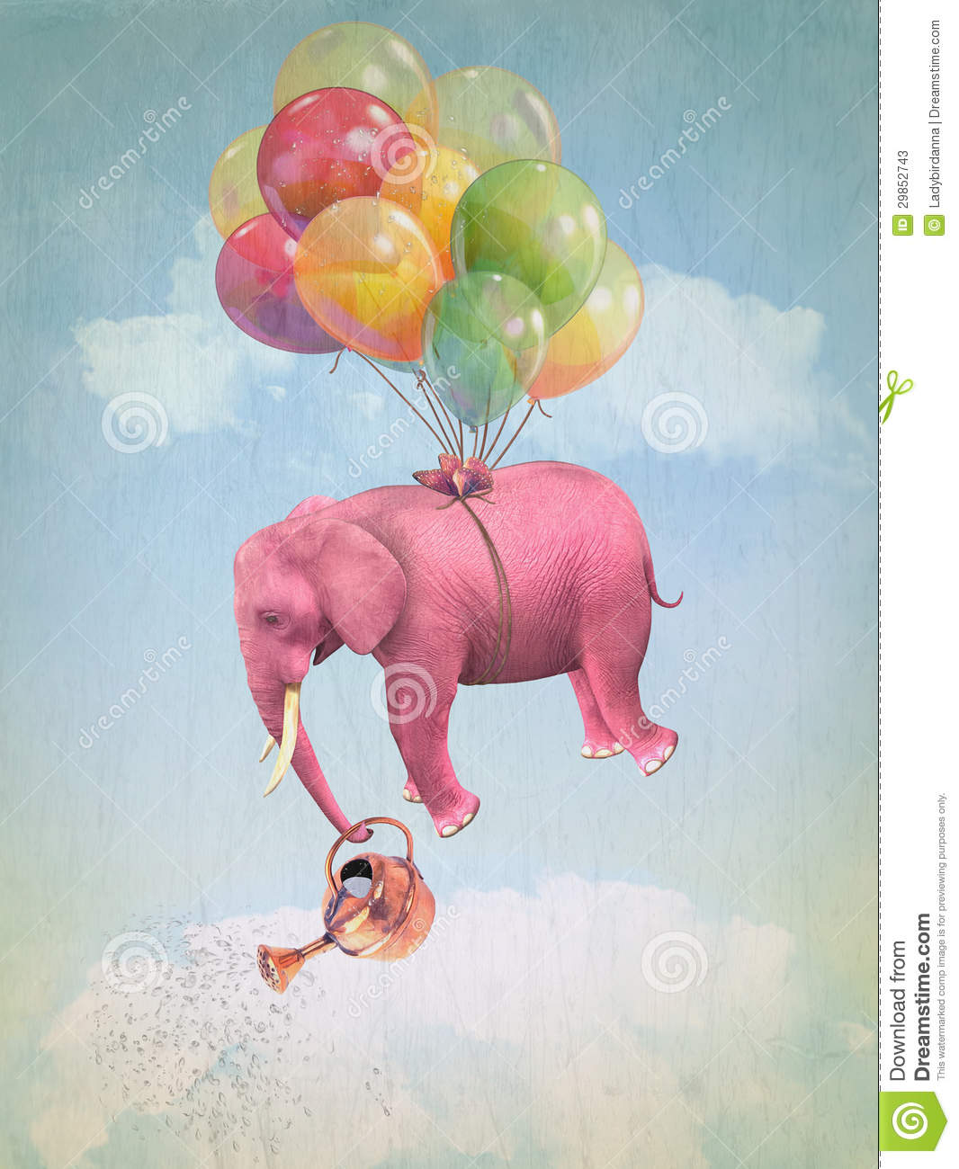 Pink Elephant In The Sky Stock Photos Image 29852743