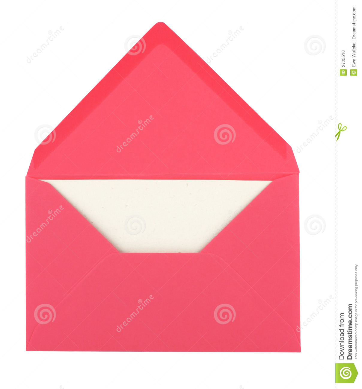 Pink envelope and card