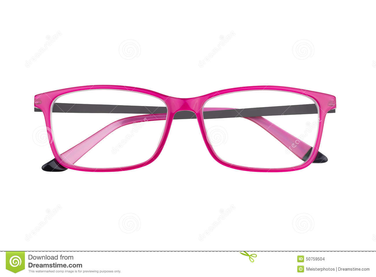 pink eyeglass frames on white