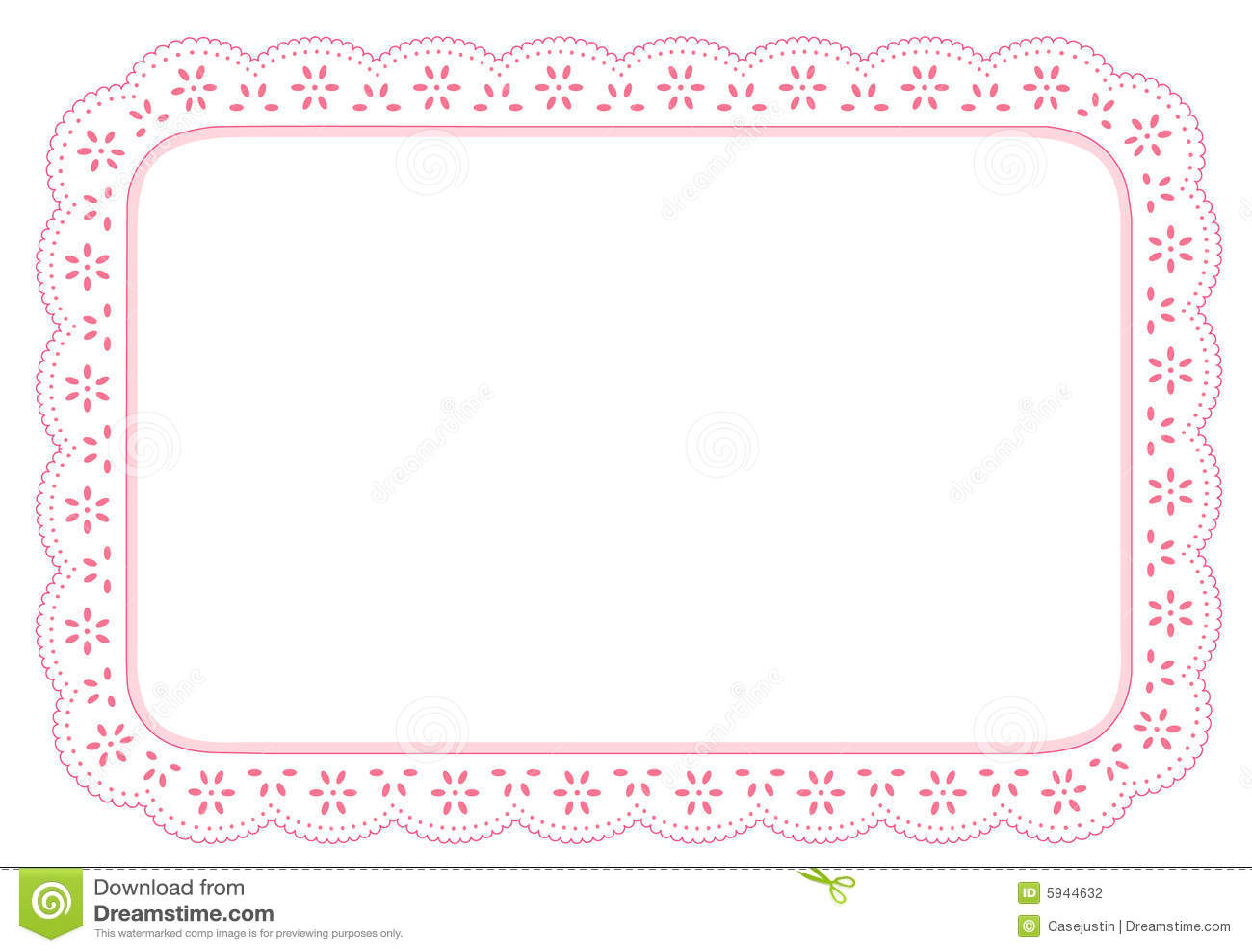 Lace Place Mat, Pink Eyelet