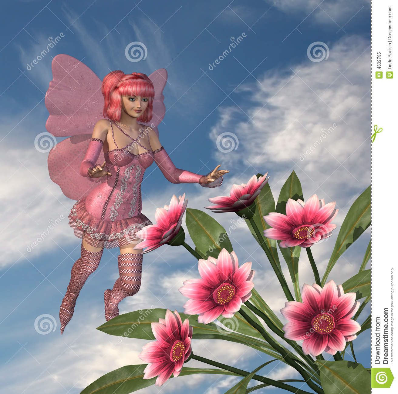 Pink fairy with flowers stock illustration illustration of folklore pink fairy with flowers mightylinksfo