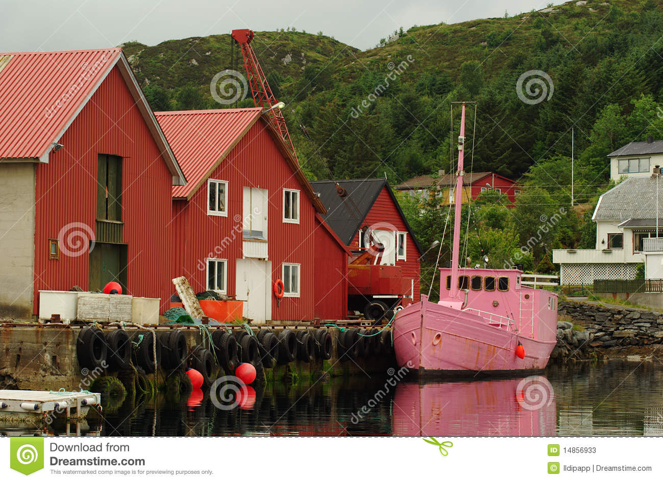 Pink Fishing Boat
