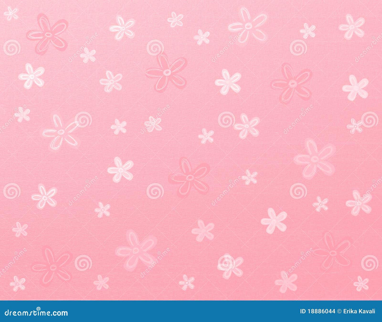 Pink Floral Background Stock Illustration Illustration Of Drawing