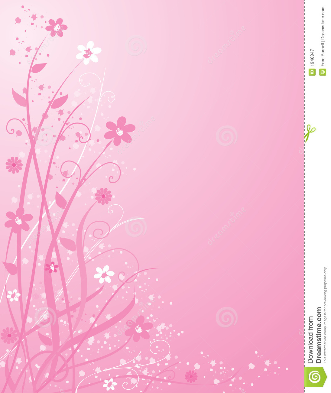 Pink Floral Background Stock Vector Illustration Of Design 1946847