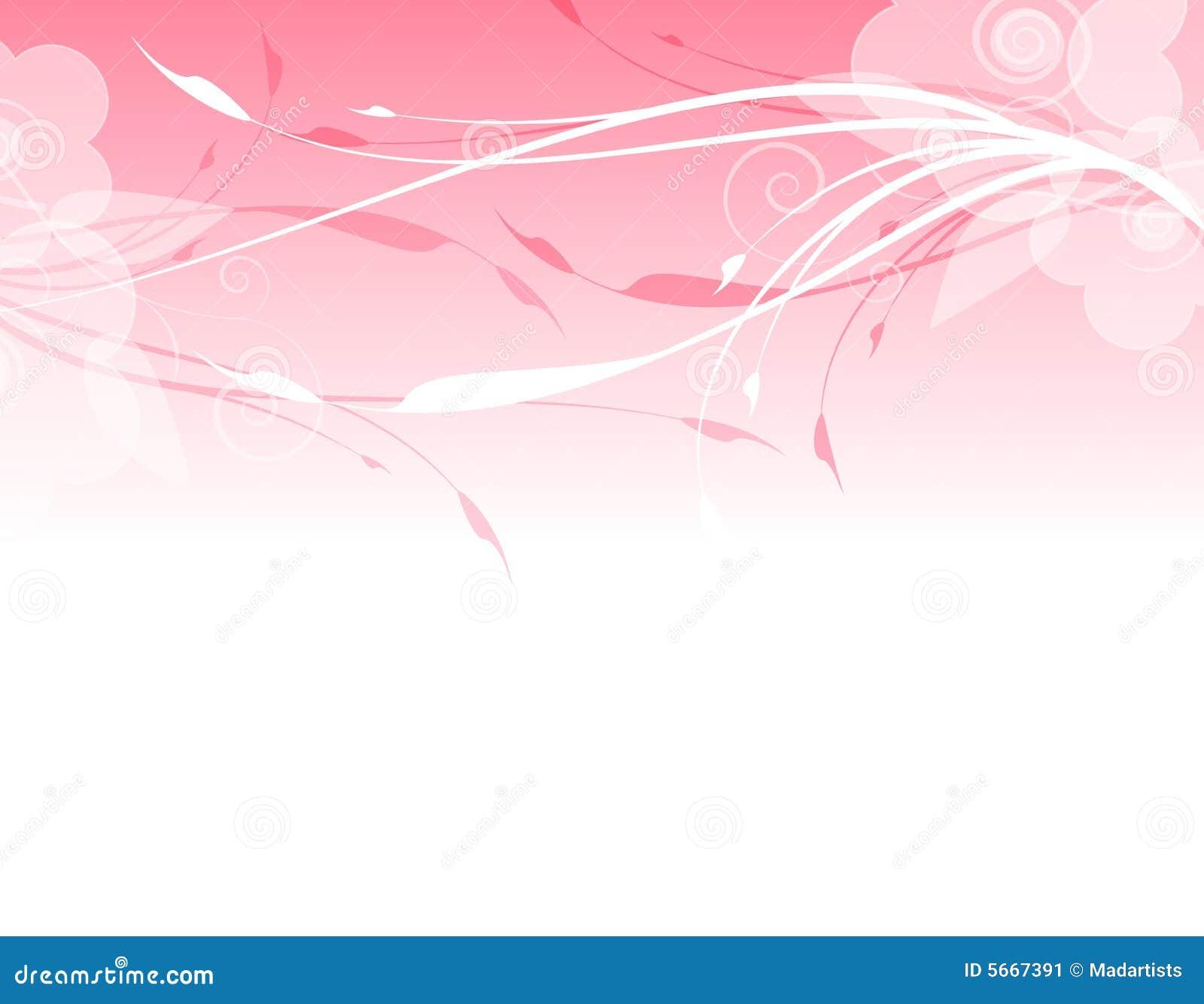 Pink Floral Background Border Stock Illustration - Image ...
