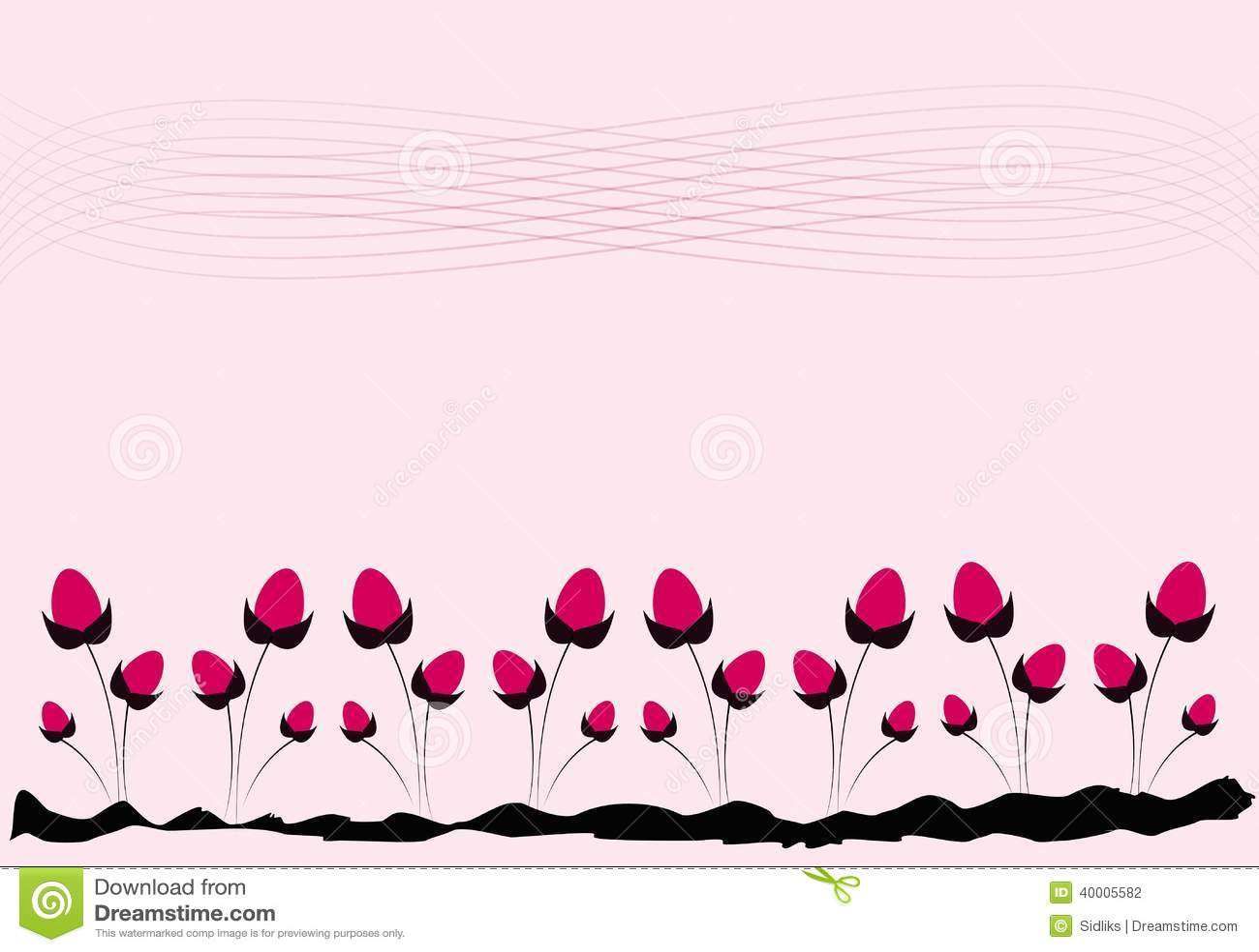 Pink Floral Background Stock Illustration Illustration Of Unusual