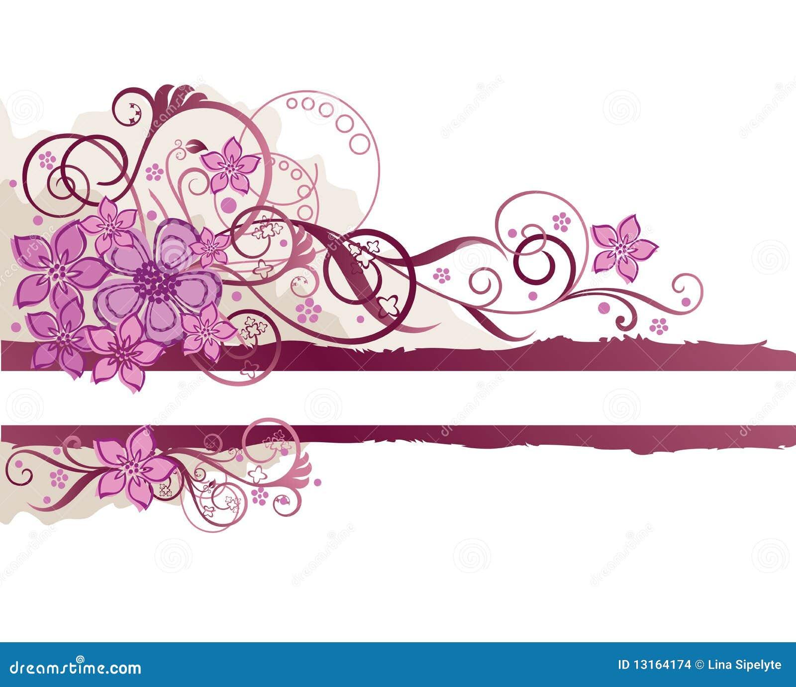Hot Pink Flowers Border Hot Pink Flowers Border Pink