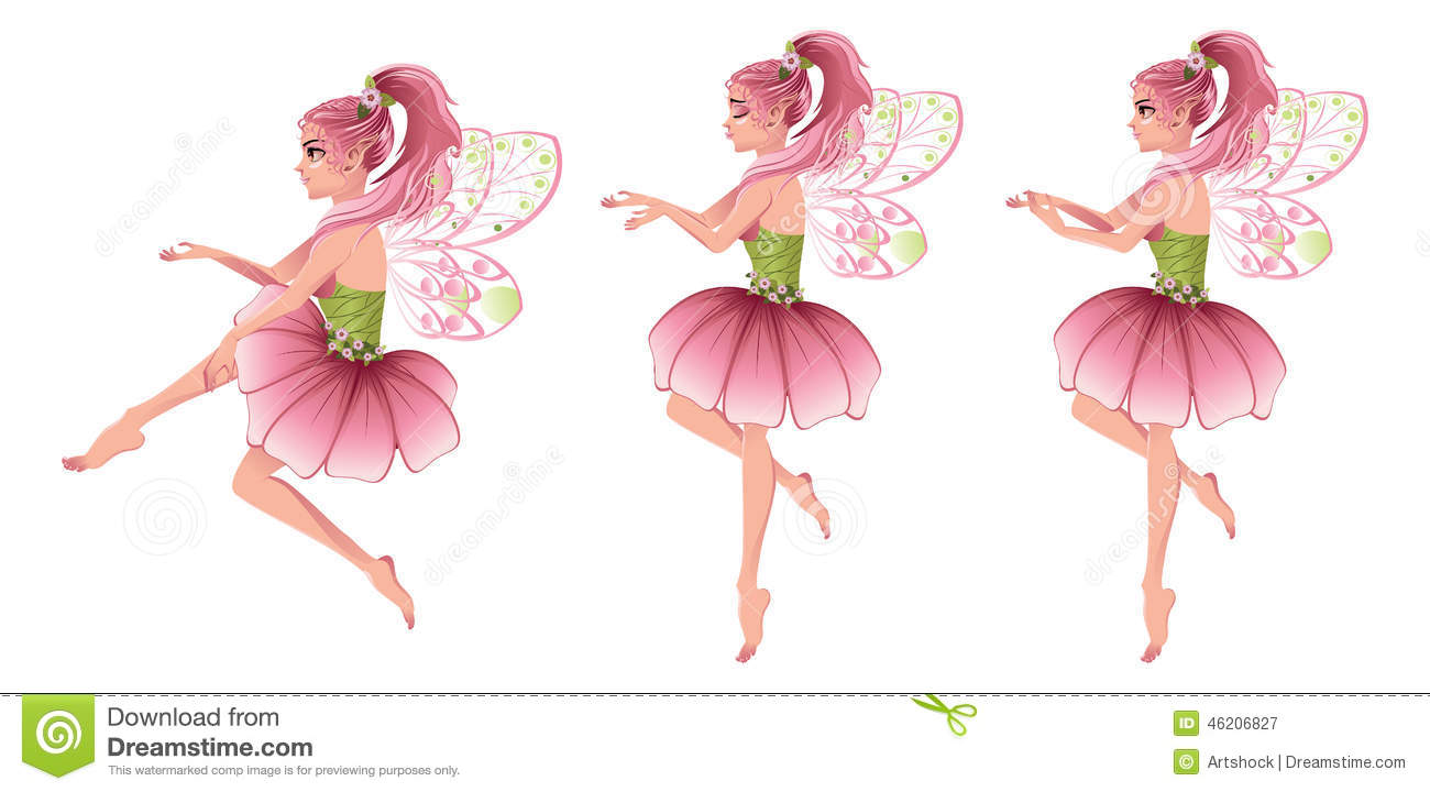 Pink Floral Fairy Stock Vector Illustration Of Abstract 46206827