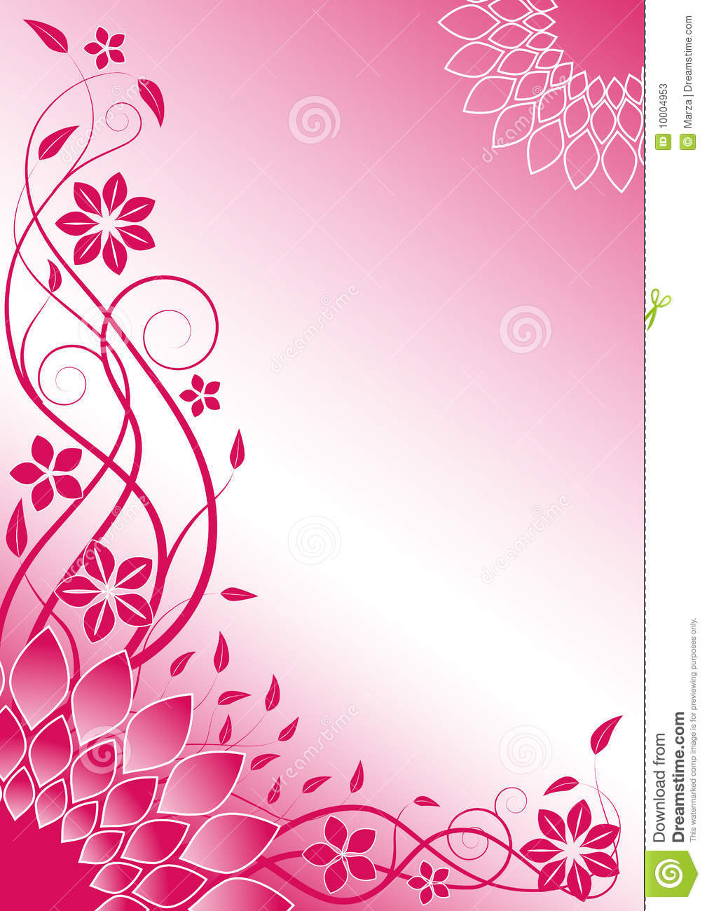 Pink Floral Vector Background Stock Vector Illustration Of Fresh