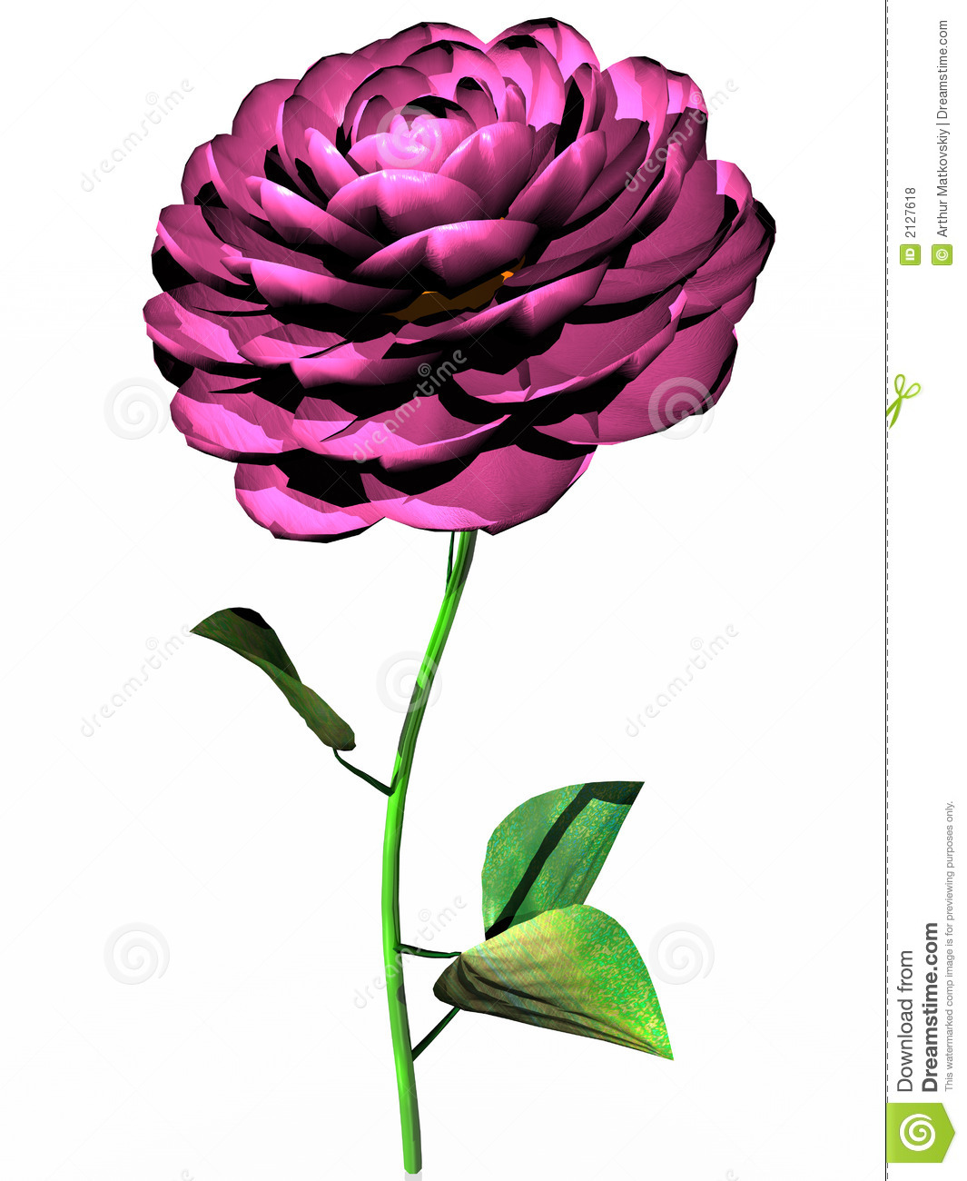 Pink Flower In 3d Royalty Free Stock Photos Image 2127618