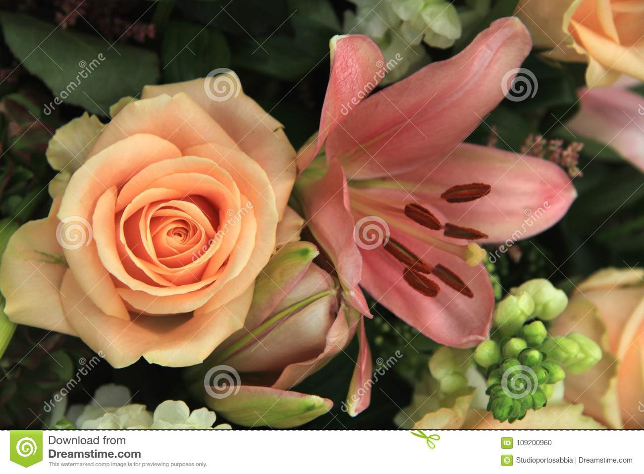 Pink Wedding Flowers Stock Photo Image Of Flower Decorations