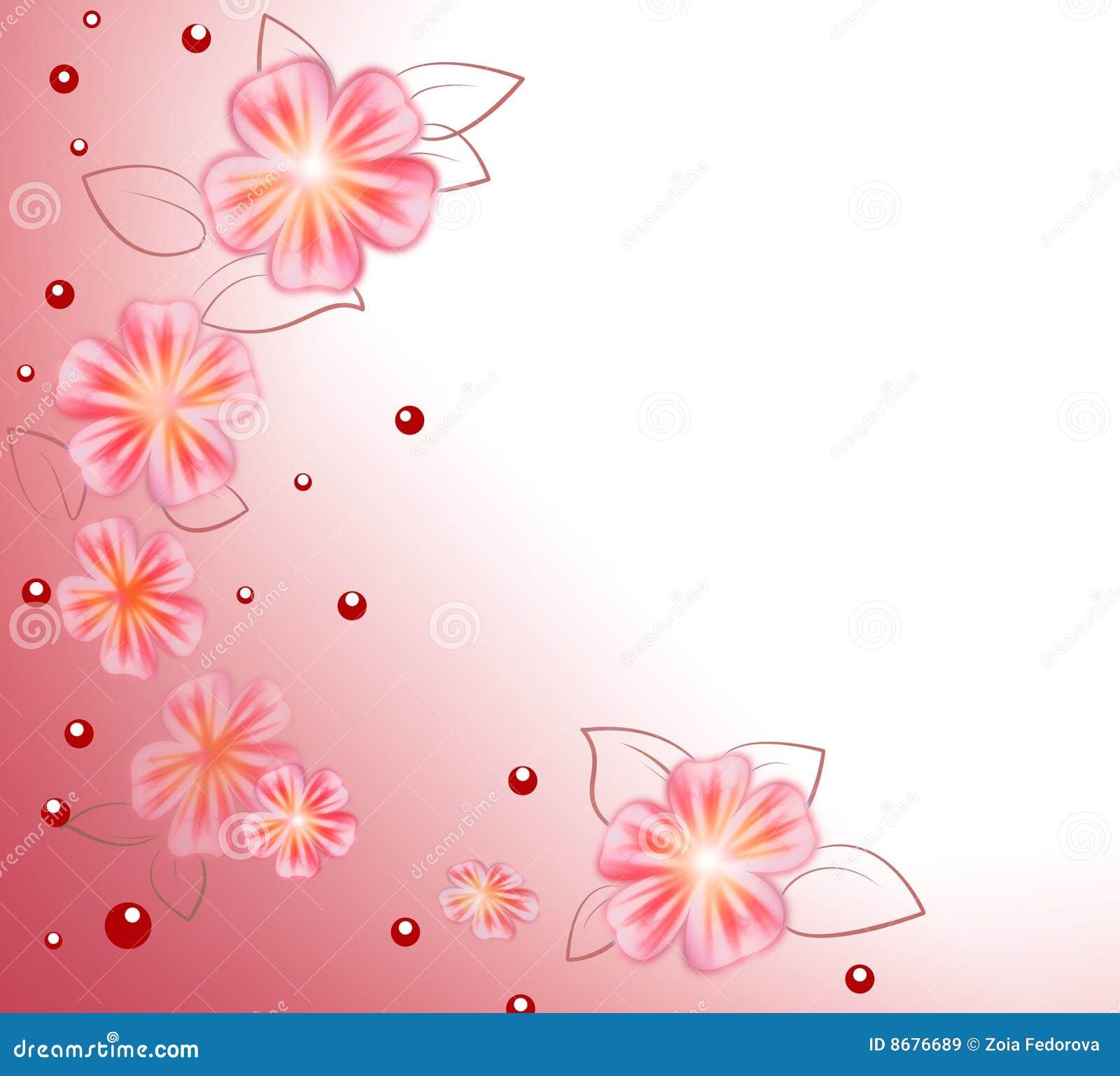 Pink Flower Background Stock Illustration Illustration Of