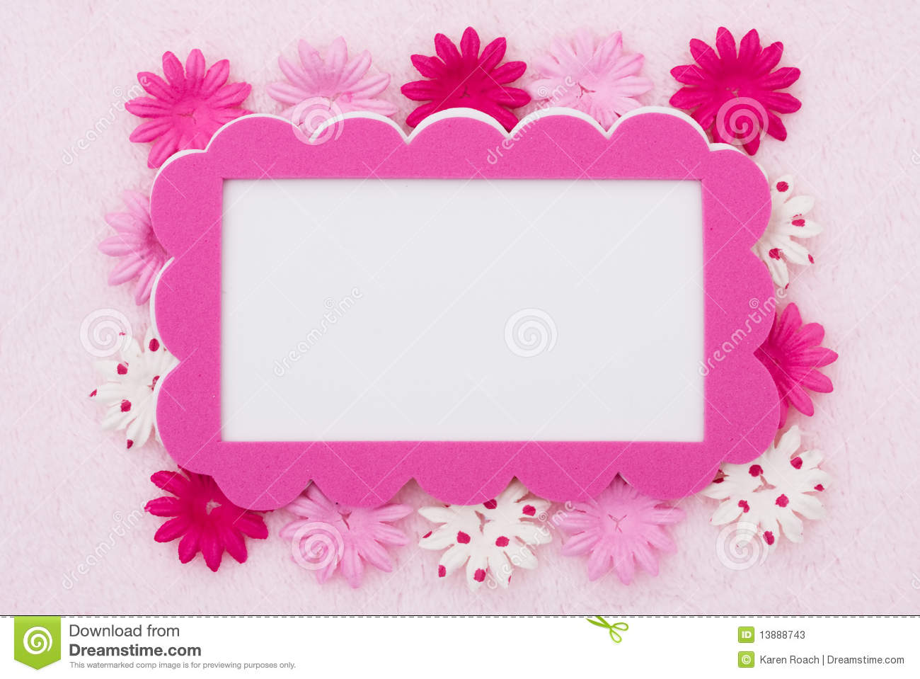 Pink flower border stock image image of border space 13888743 pink flower border mightylinksfo Images