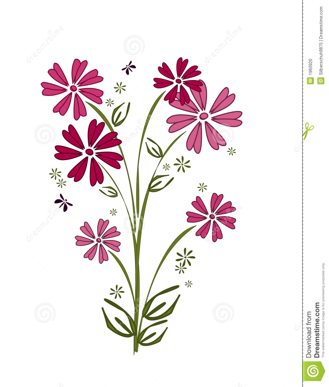 Pink flower bouquet stock vector illustration of flora