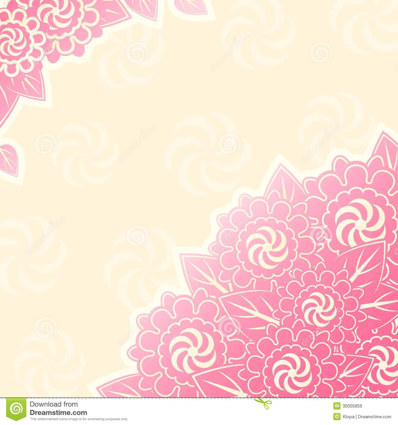 Pink Flower Bouquet In Corner Royalty Free Stock Images