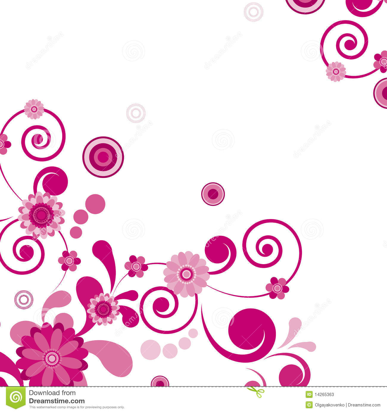 Pink Flower. Floral Background. Stock Photos - Image: 14265363