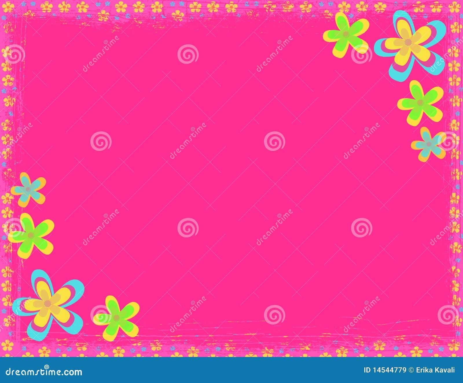 Pink flower hippie background stock illustration illustration of pink flower hippie background voltagebd Choice Image