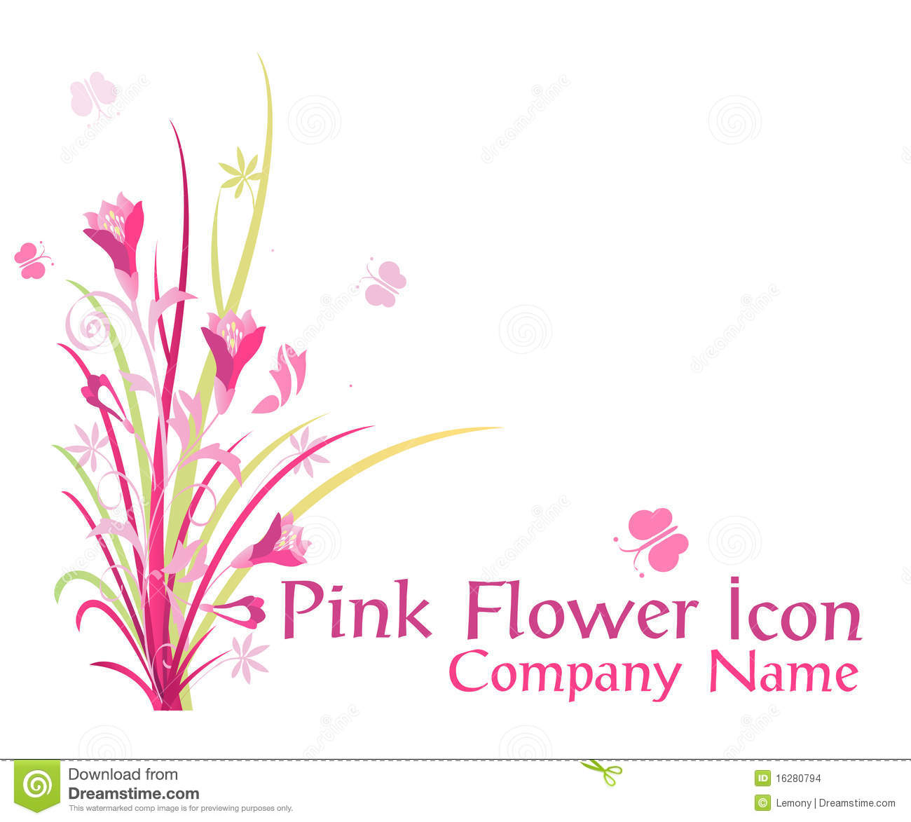 Pink flower icon stock images image 16280794 royalty free stock photo download pink flower icon dhlflorist Images