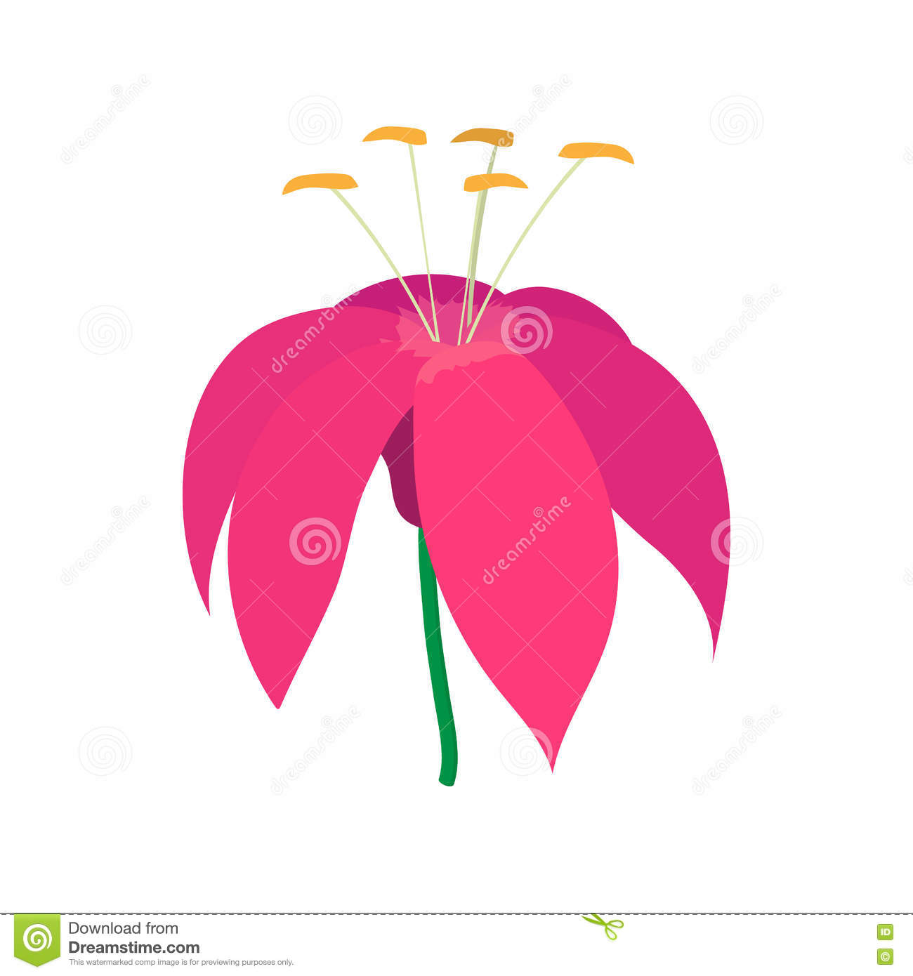 Pink flower icon cartoon style stock vector image 78929821 pink flower icon cartoon style dhlflorist Images