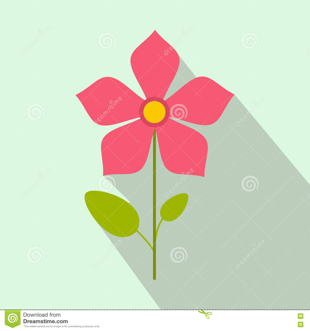 Pink flower icon flat style stock vector image 78755954 flat flower icon pink dhlflorist Images