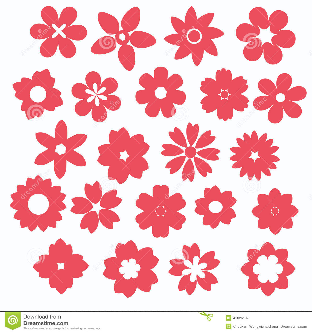 Pink flower icon stock vector illustration of illustration 41826197 pink flower icon mightylinksfo