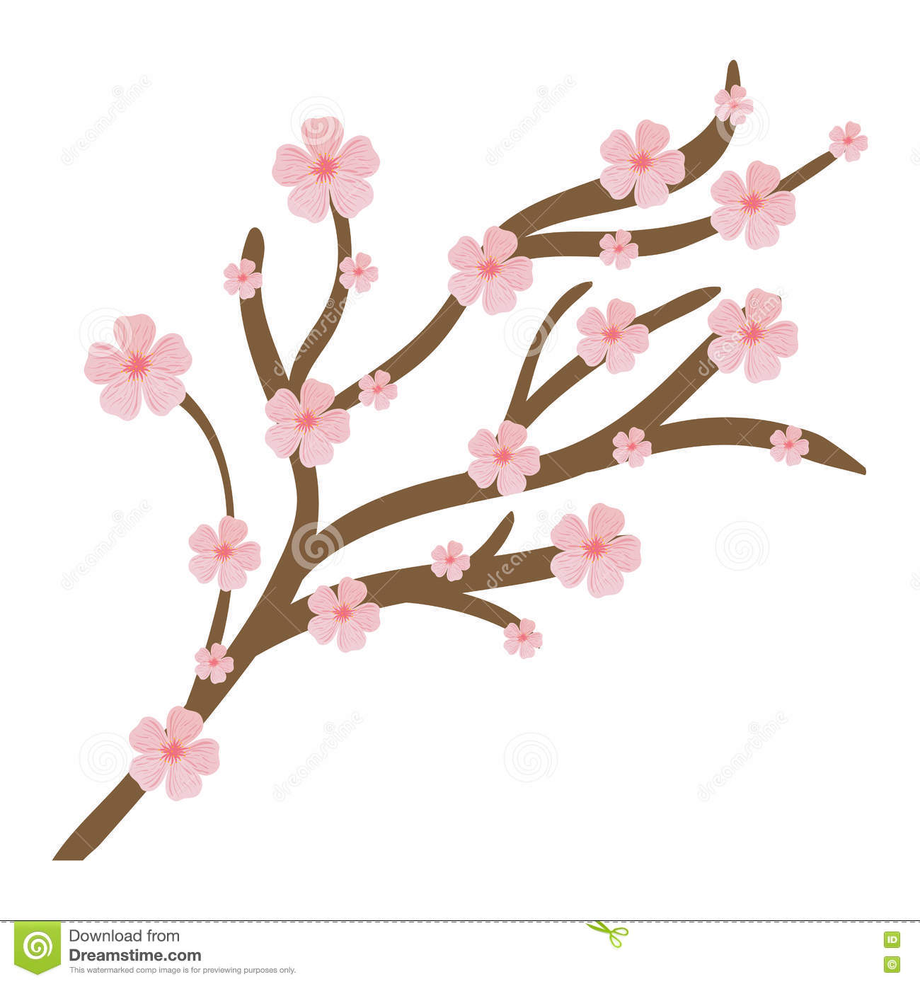 pink flower icon. garden design. vector graphic stock vector