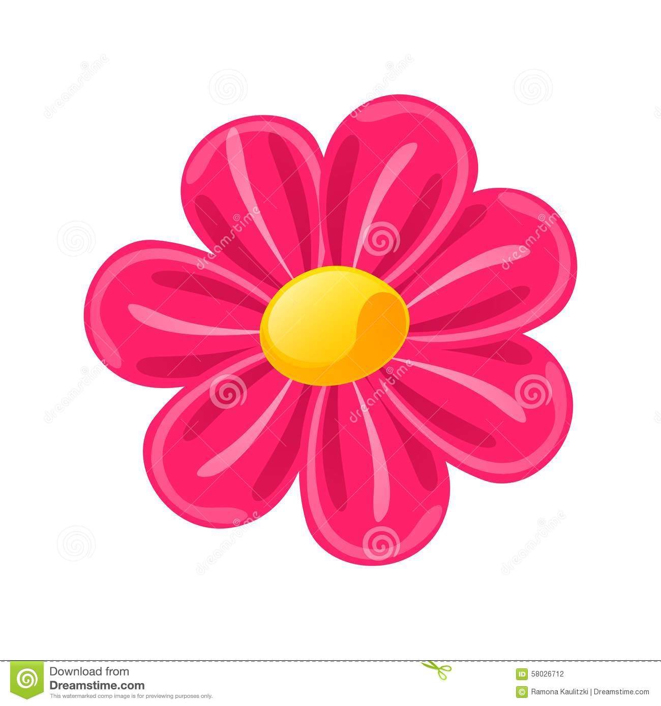 Pink flower stock illustration illustration of illustration 58026712 pink flower royalty free illustration mightylinksfo