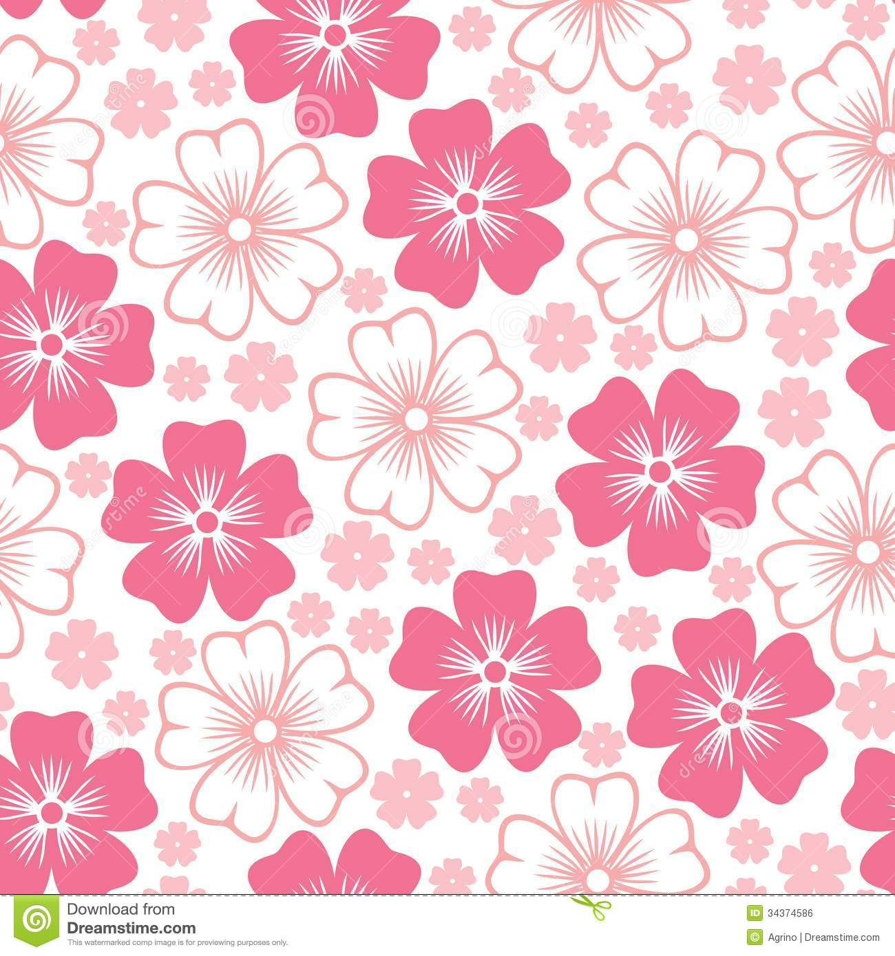 Nice Floral Background Pink