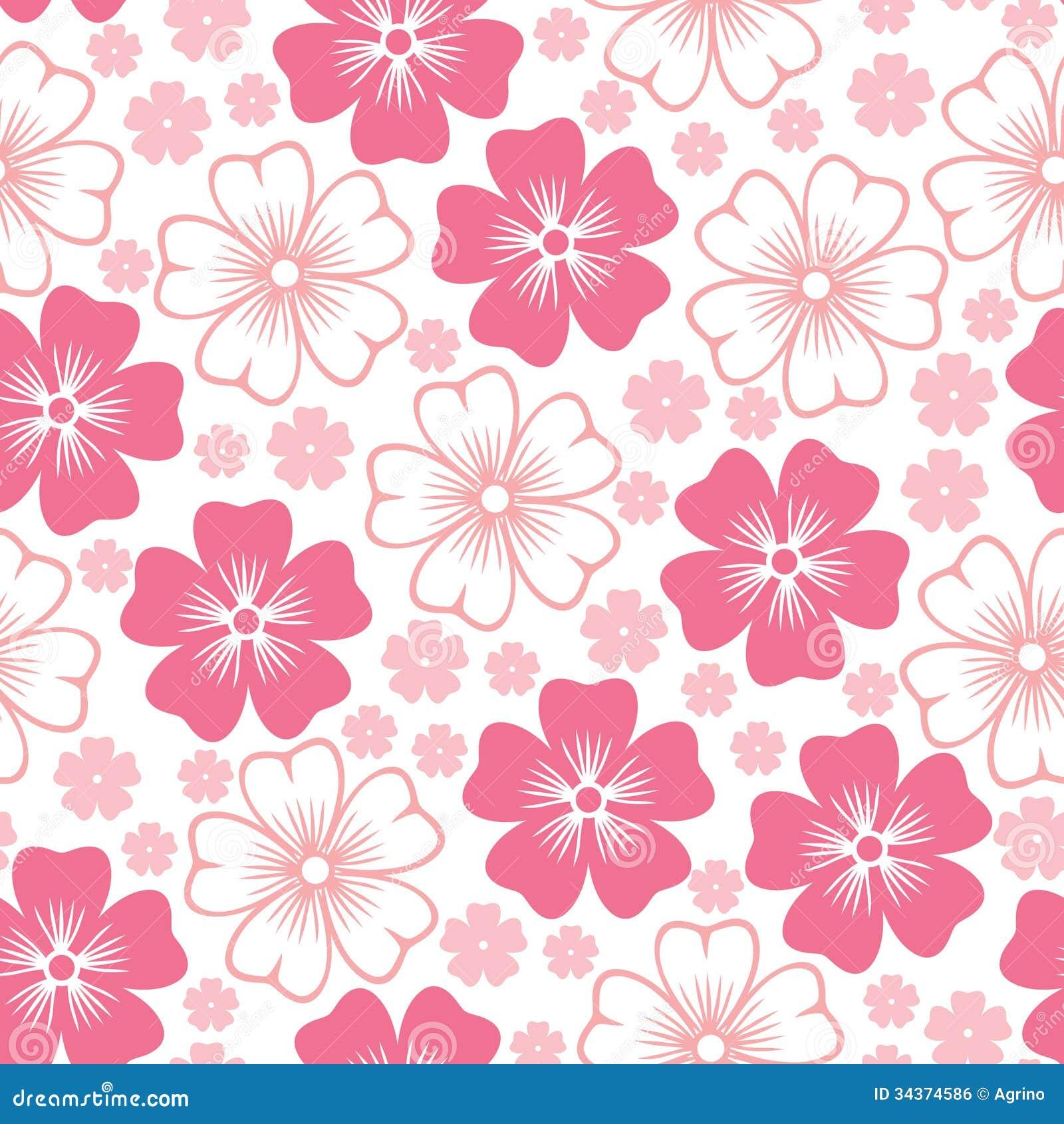 Pink Flower Seamless Pattern Royalty Free Stock Image Image