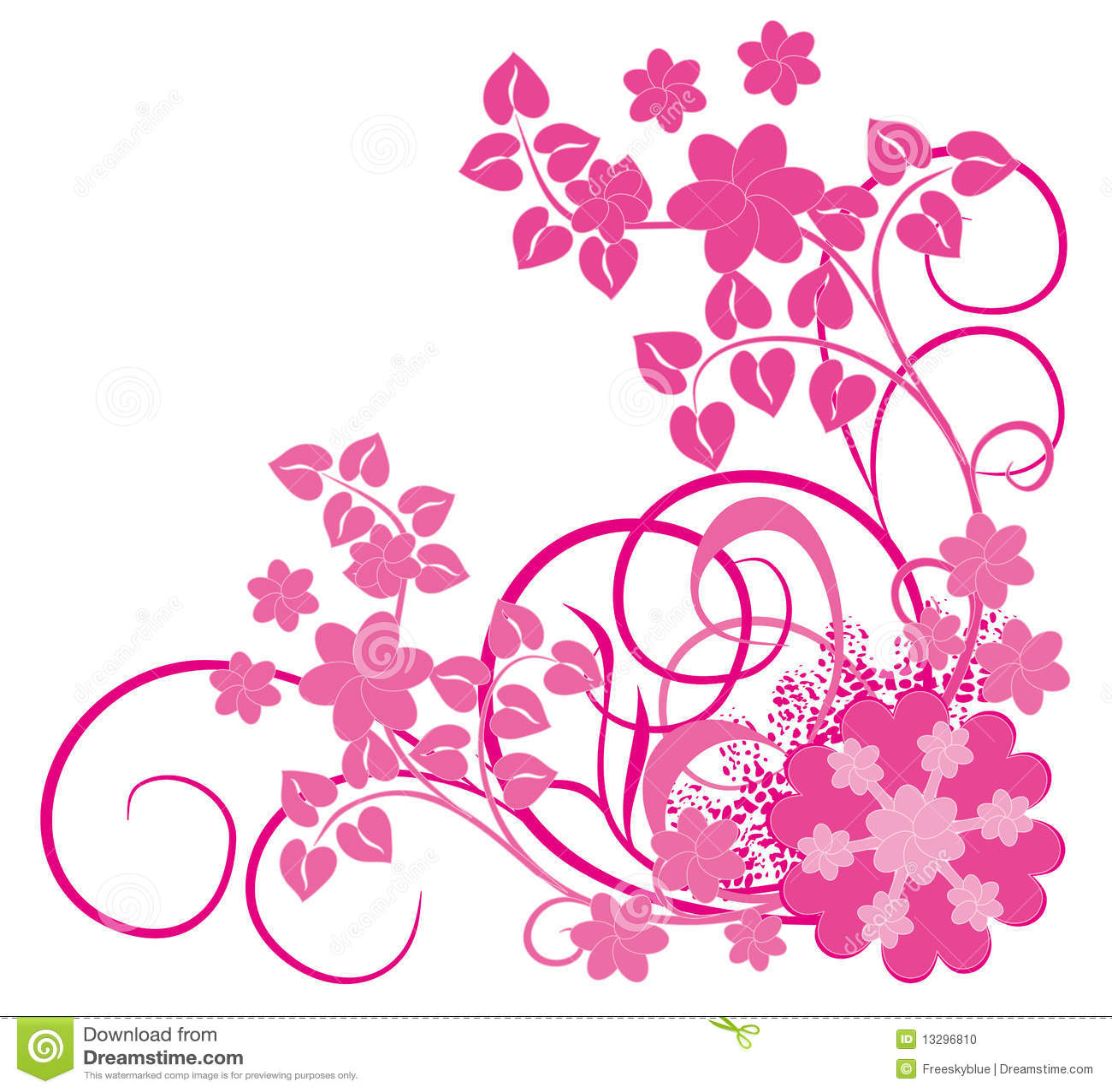 Pink Flower Vines Stock Illustrations 325 Pink Flower Vines Stock