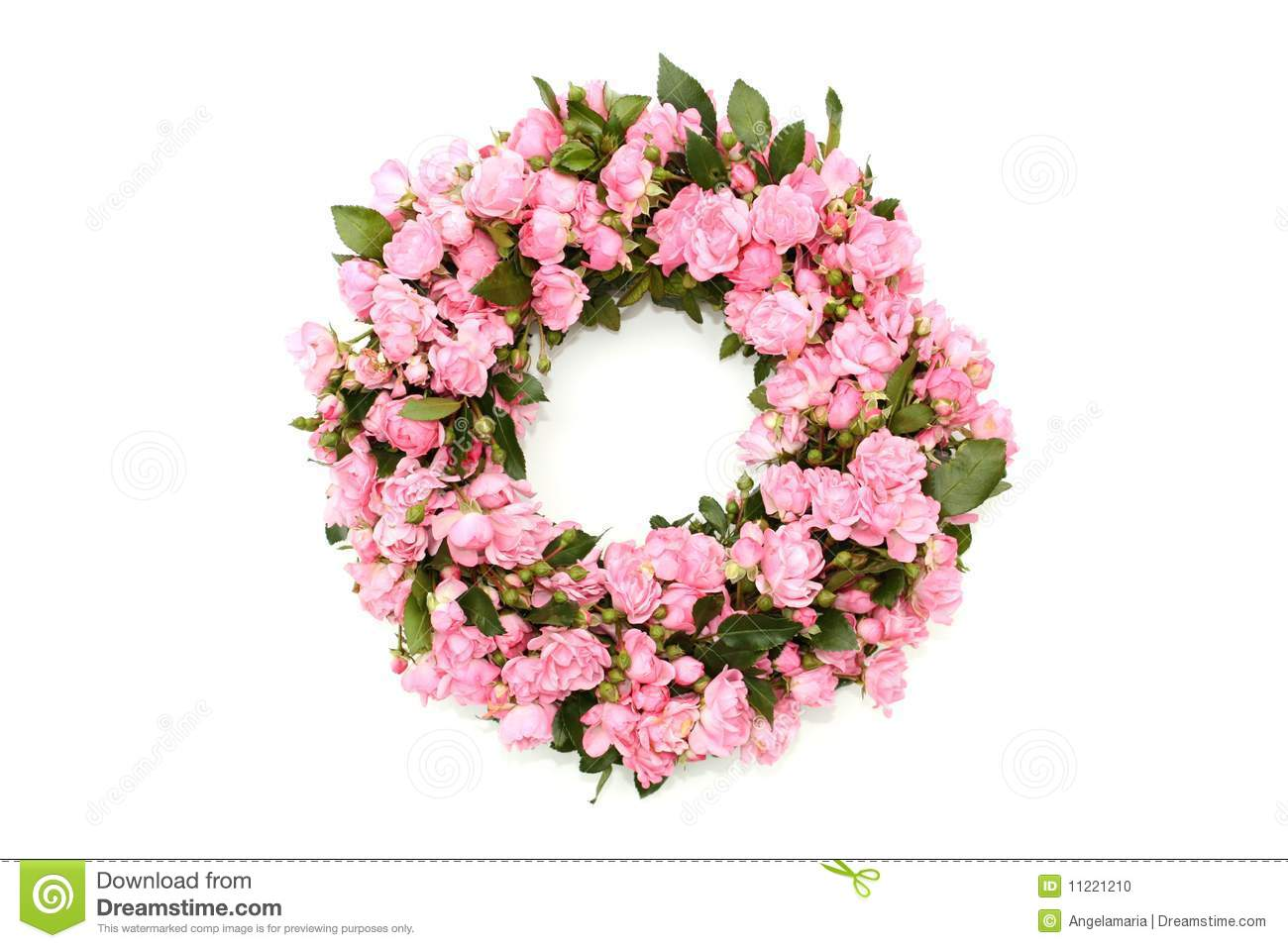 Pink Flower Wreath Stock Photo Image Of Plant Flower 11221210