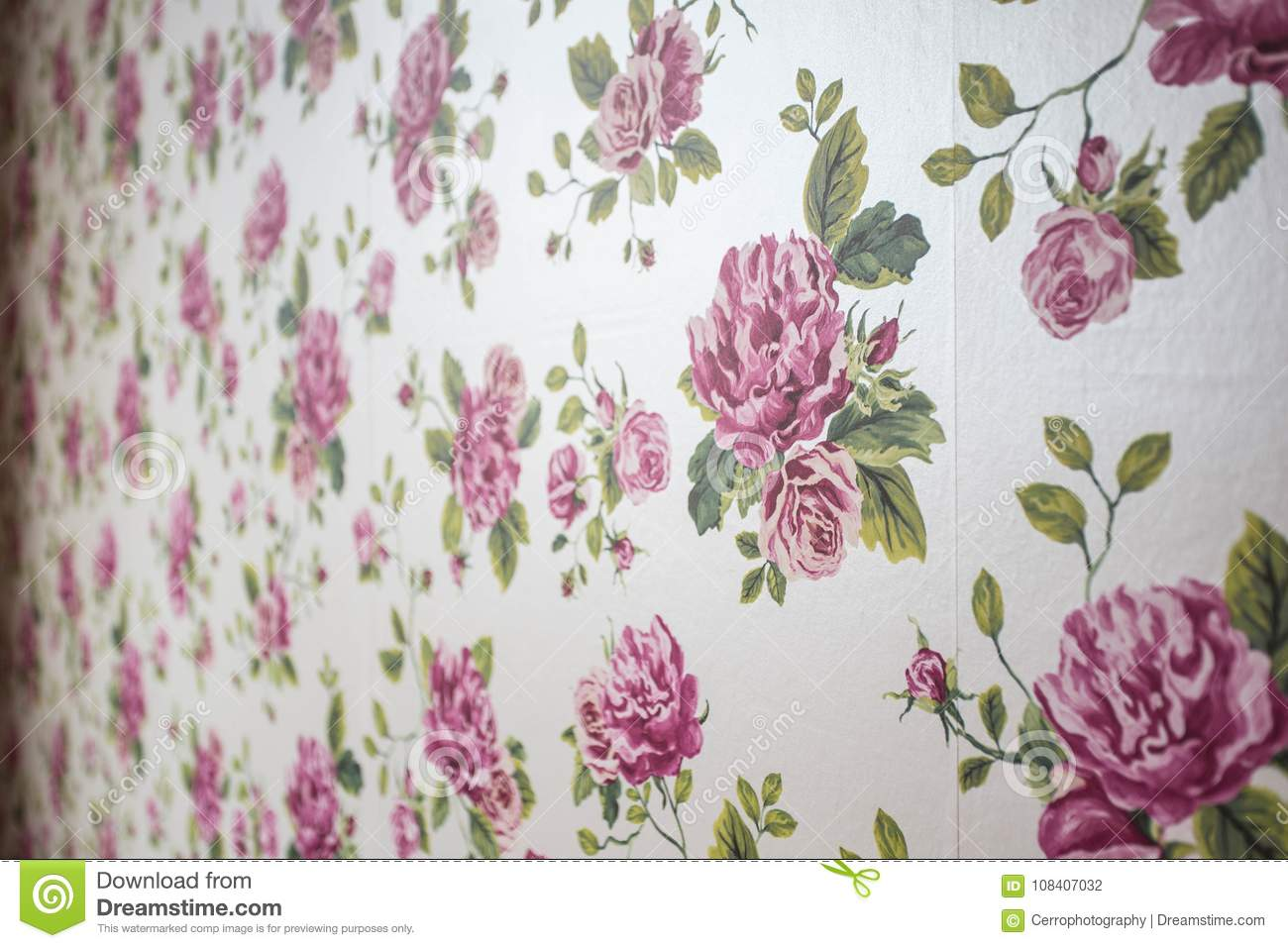 Pink Flowers Background Texture Wallpaper Soft Designgirly Stock