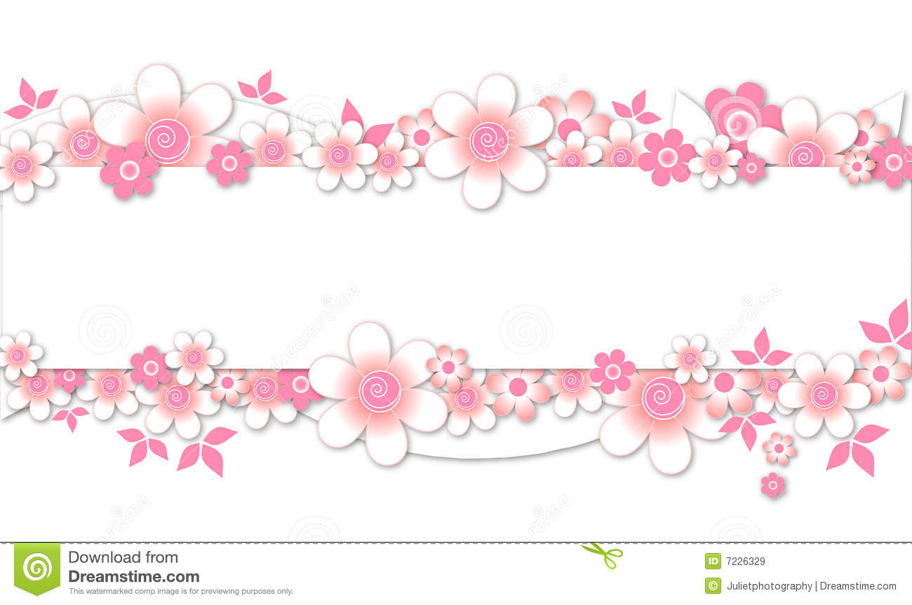 Pink Flowers Banner Royalty Free Stock Images - Image: 7226329