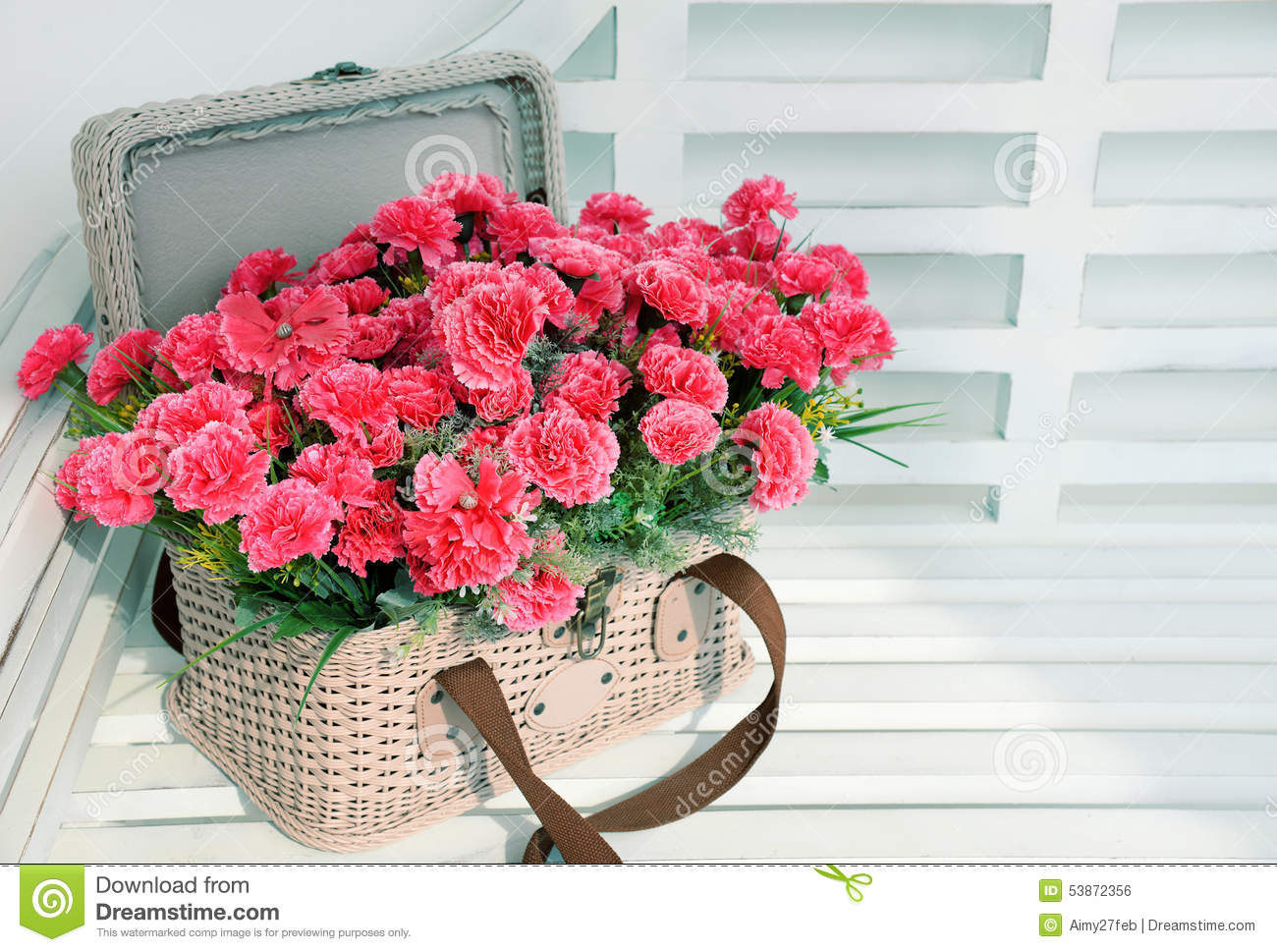 Pink flowers in basket stock photo image of card daisy 53872356 download pink flowers in basket stock photo image of card daisy 53872356 mightylinksfo