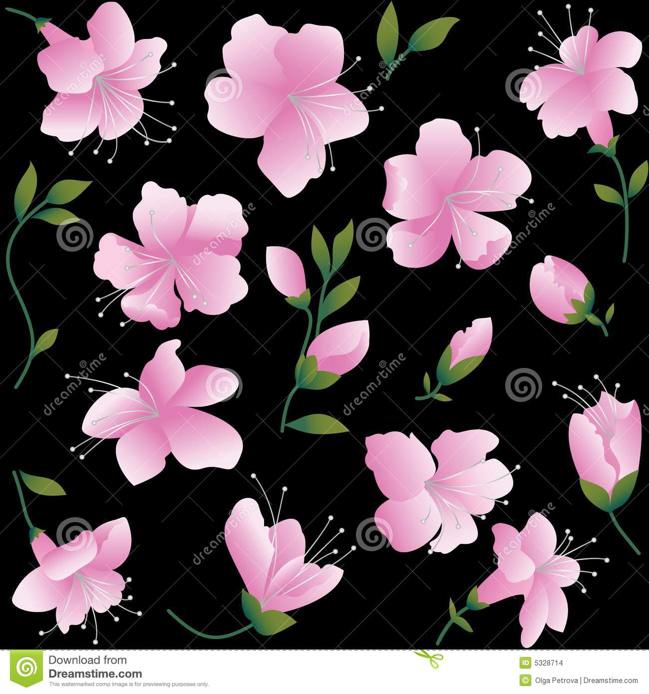 Pink And Black Flowers Lektonfo