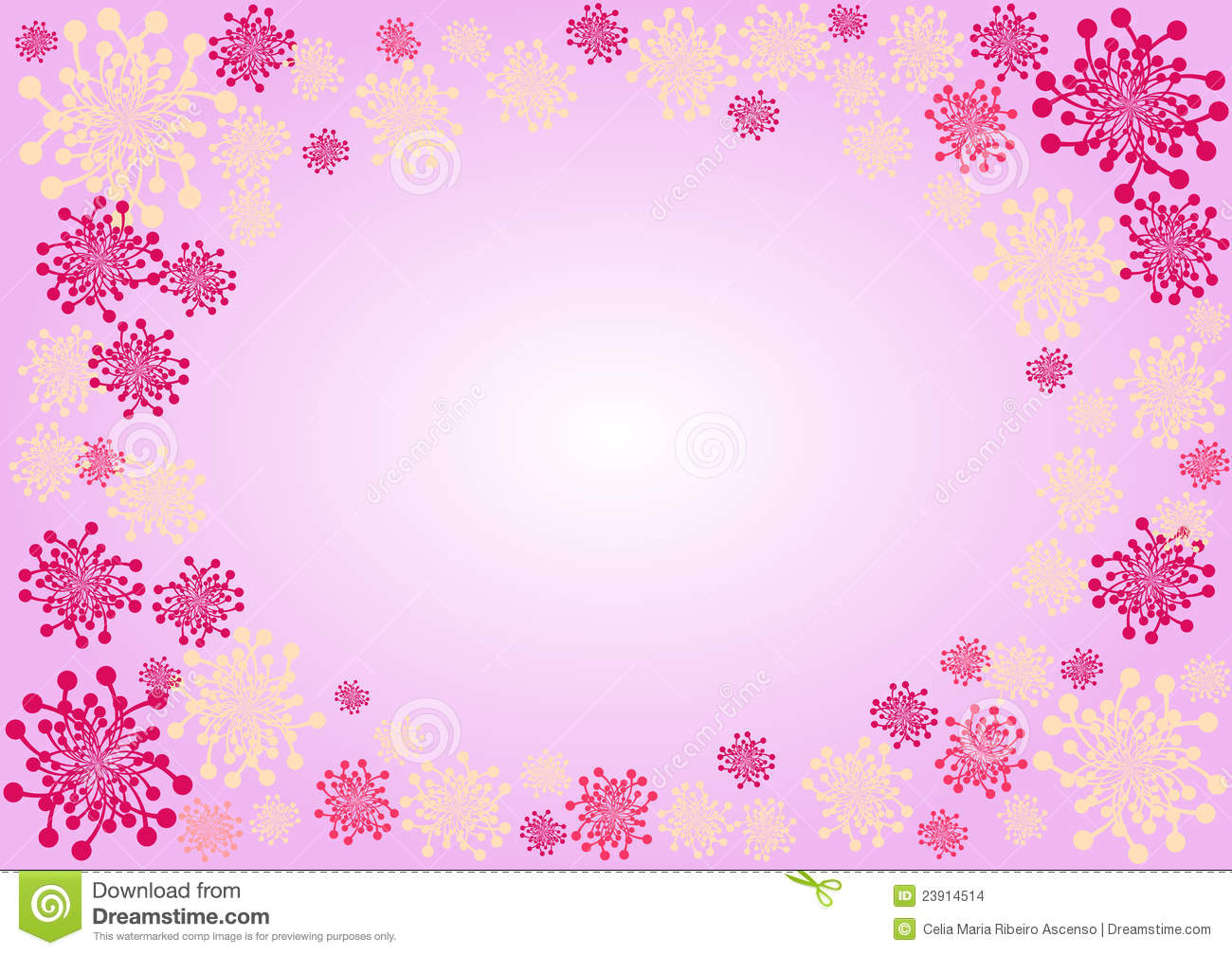 Pink flowers border stock illustration illustration of dandelion pink flowers border mightylinksfo Choice Image