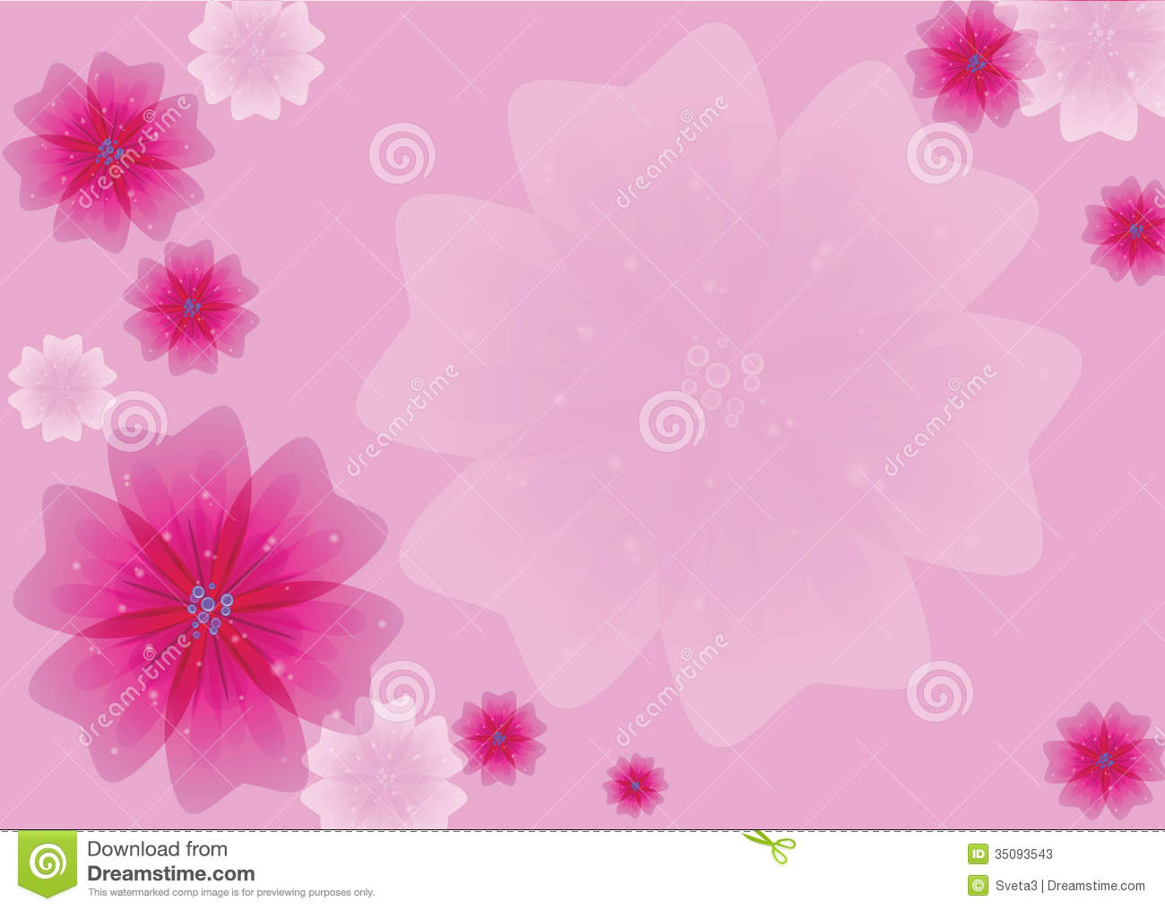 Pink Flowers Stock Illustration Of Backgrounds