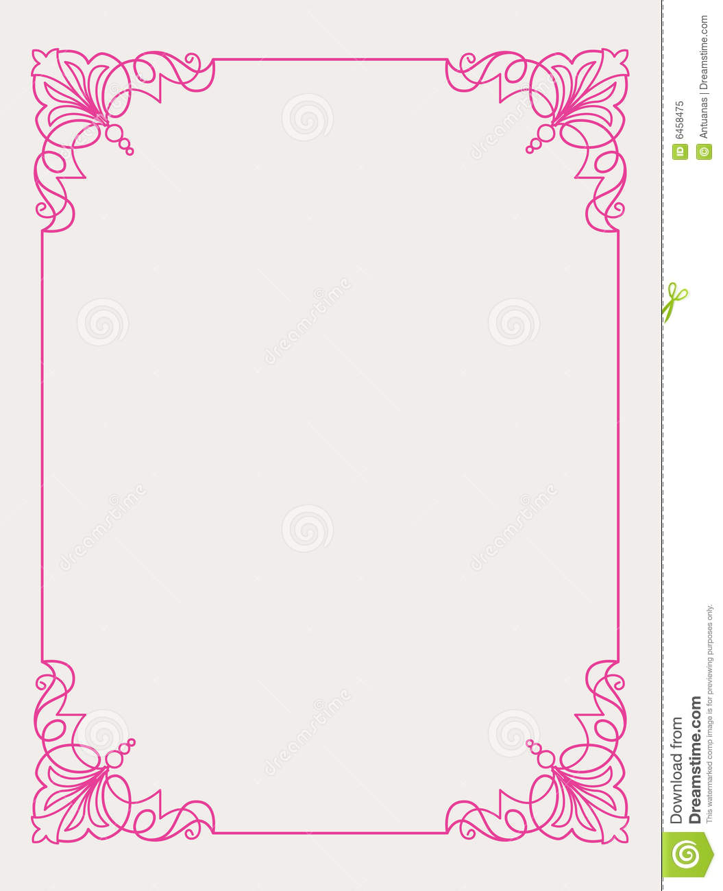 Pink Frame Design Royalty Free Stock Photo - Image: 6458475