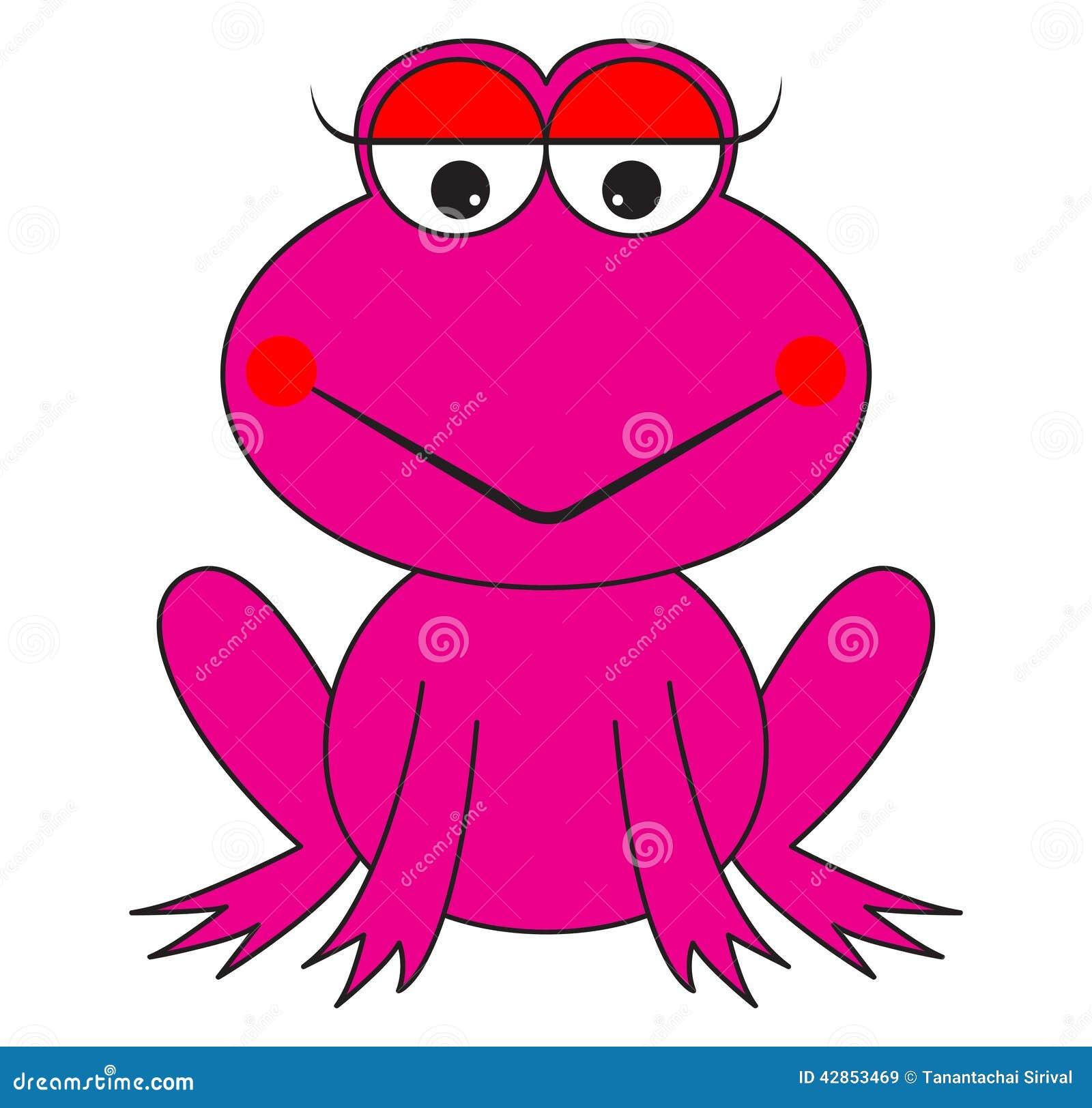 pink frog cartoon vector stock vector image 42853469