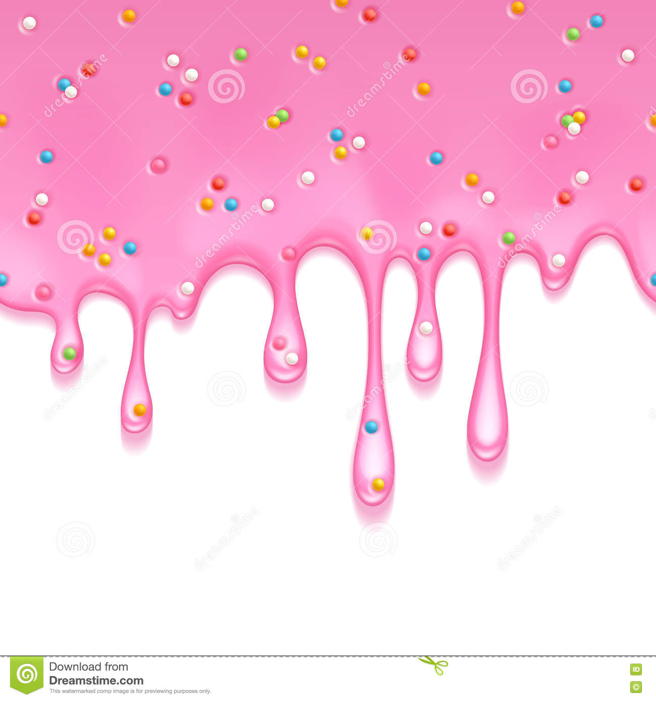 Melting Ice Cream Simple Wallpaper Designs: Jellylike Cartoons, Illustrations & Vector Stock Images