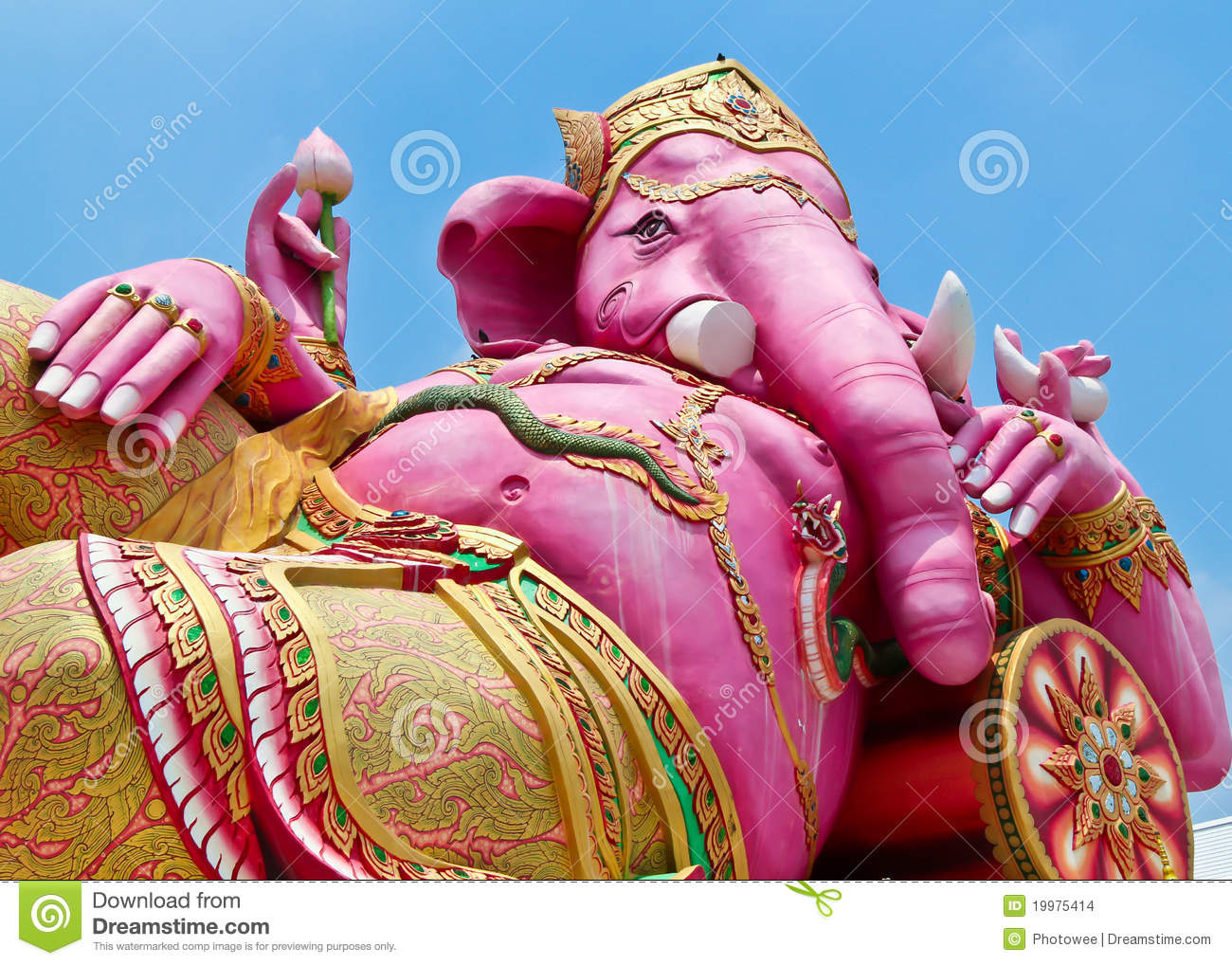 Pink Ganesha In Thailand Stock Images Image 19975414