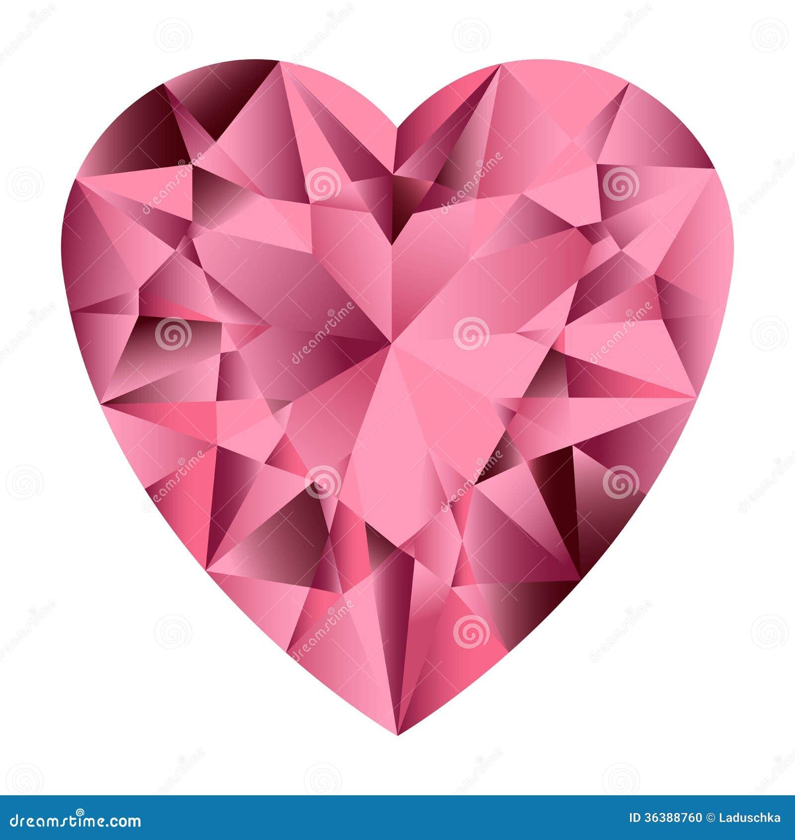 pink gemstone heart stock photo image 36388760 free clipart of valentine hearts Bing Free Clip Art Valentine Hearts